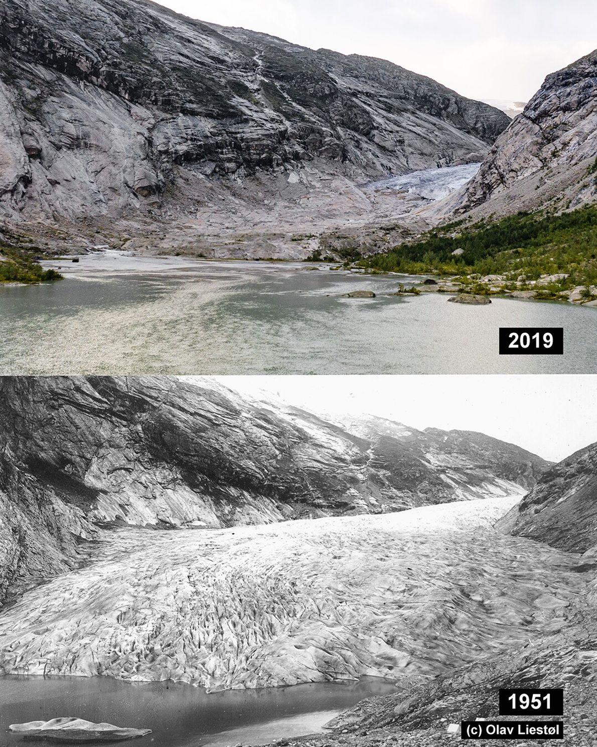 Nigardsbreen, Norwegen: Der Nigardsbreen ist ein Auslassgletscher des Jostedalgletschers.