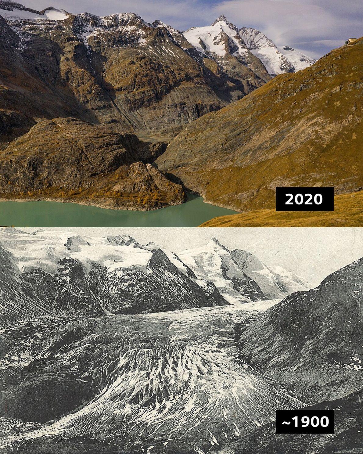 Pasterze, Österreich: Die Pasterze ist mit etwas mehr als 8 km Länge der größte Gletscher Österreichs ...