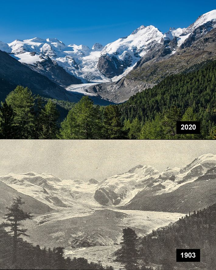 Morteratschgletscher, Schweiz: Der Morteratsch ist ein Alpen-Gletscher im Kanton Graubünden. Er gehört zu der Berninagruppe.