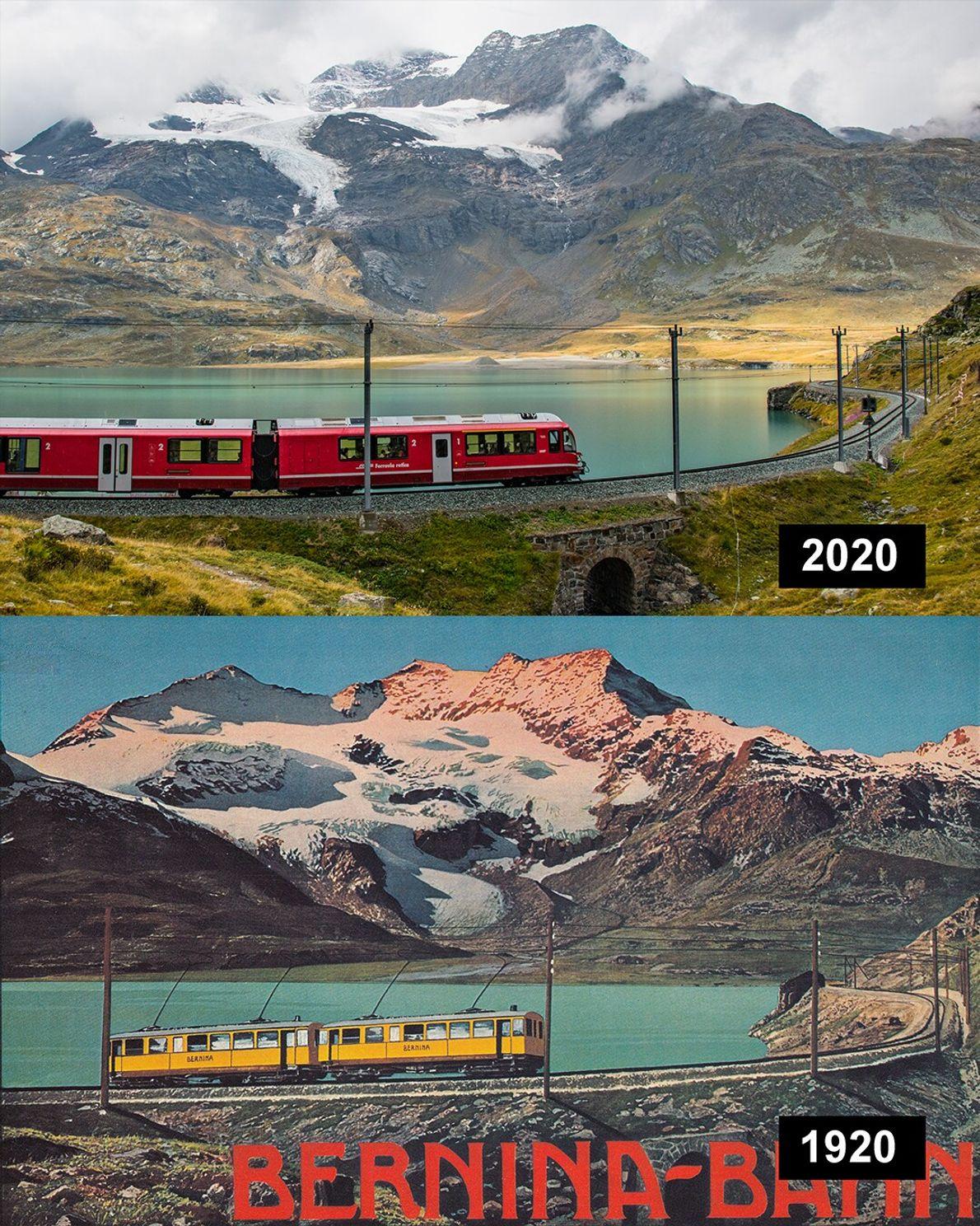 Cambrena, Schweiz: Der Cambrena Gletscher liegt ebenfalls in Graubünden und gehört zur Berninagruppe.
