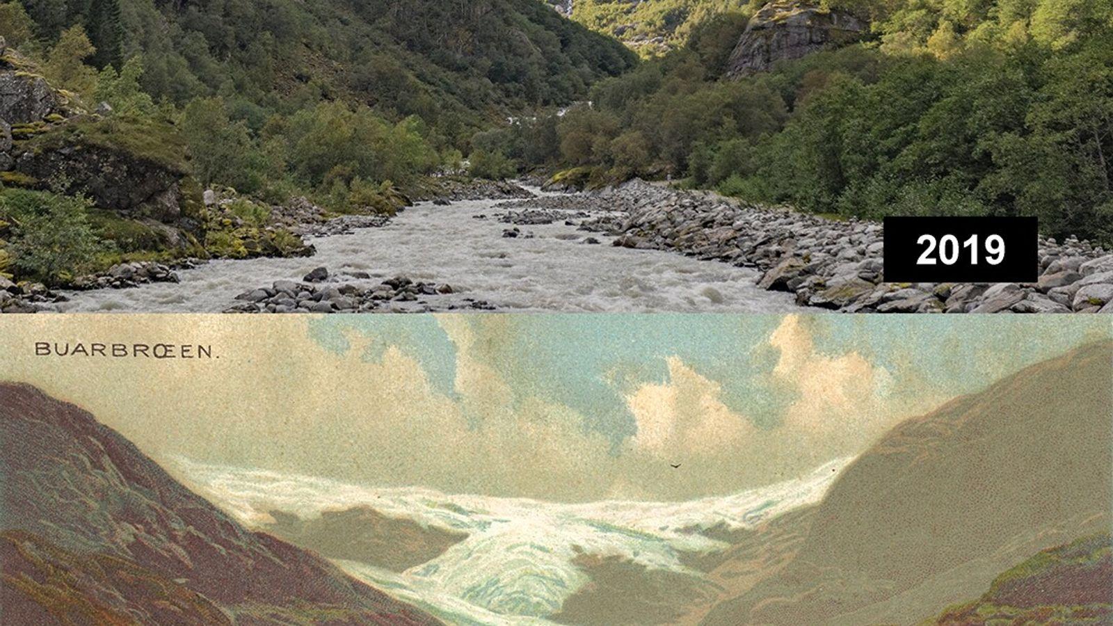 Buarbeen, Norwegen: Der Buarbreen ist eine Gletscherzunge des Folgefonna-Gletschers und ist im Hardaland gelegen.