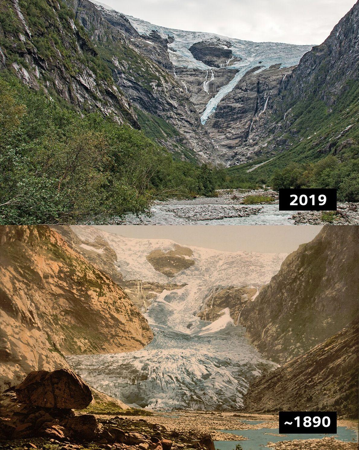 Kjenndalsbreen, Norwegen: Der Kjenndal-Gletscher ist ein Ausläufer des gewaltigen Jostedal-Gletschers, dem größten Festlandgletscher Europas.
