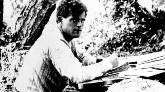 Jack London in Kalifornien, 1905.
