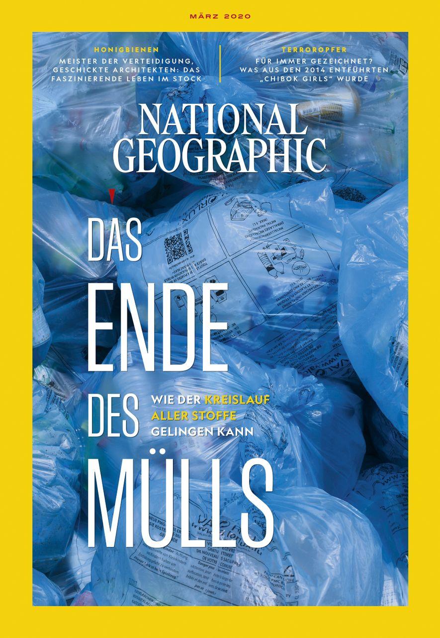 National Geographic-Magazin März 2020, Titelthema: Das Ende des Mülls