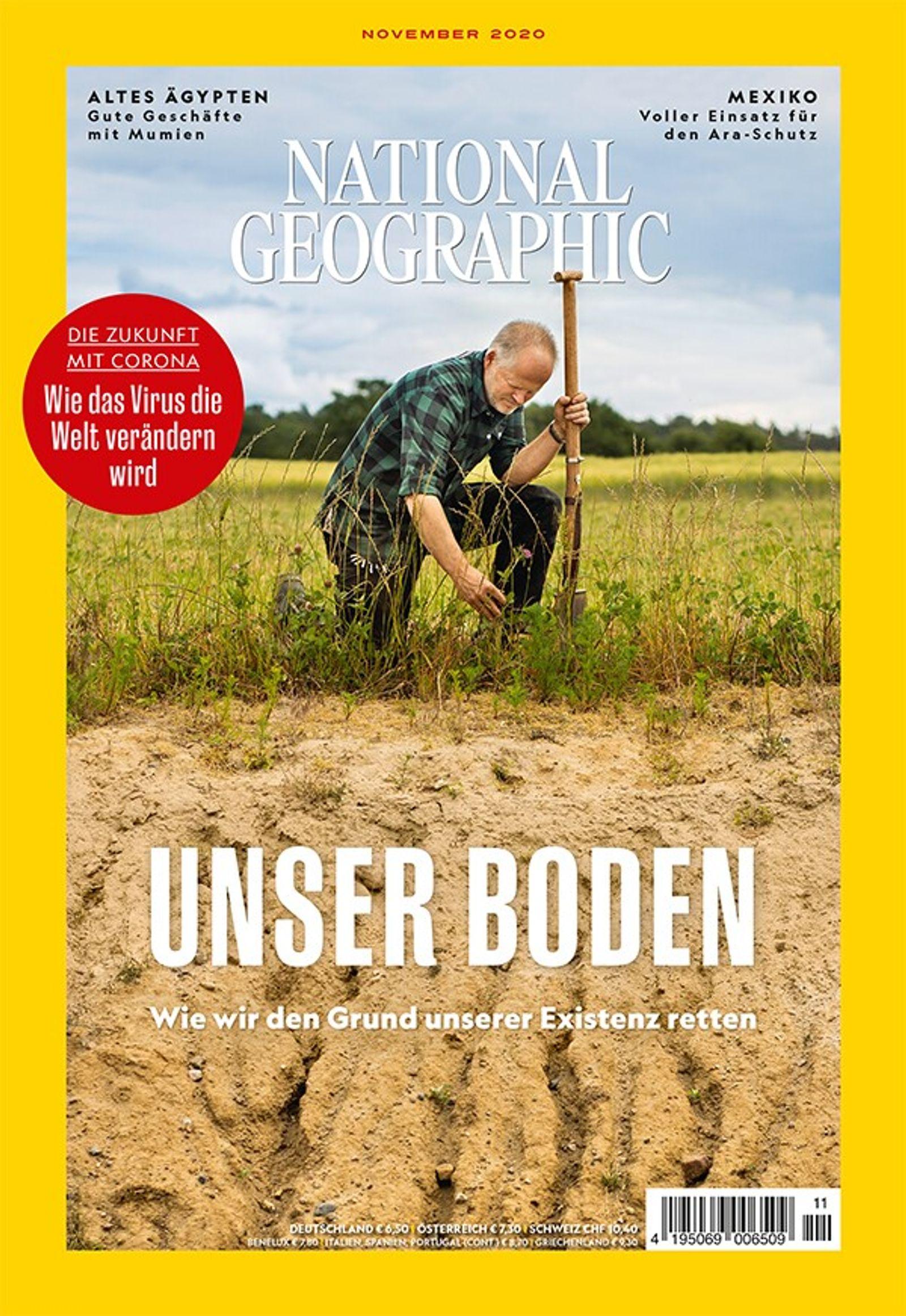 National Geographic-Magazin November 2020, Titelthema: Boden