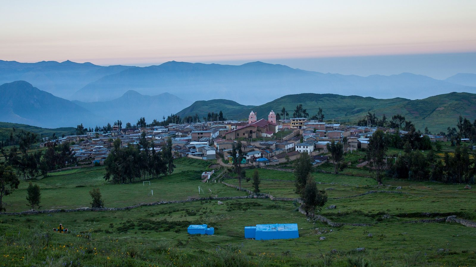 Die Gemeinde Huamantanga liegt inmitten der Anden, wo sich auch einige der amunas befinden – uralte ...