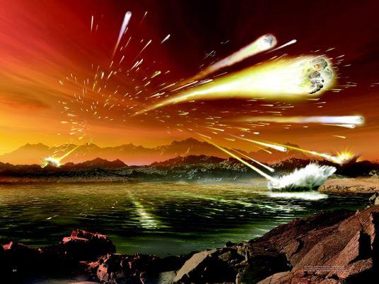 """Erde erlebt eine """"Flutwelle"""" von Einschlägen aus dem All"""