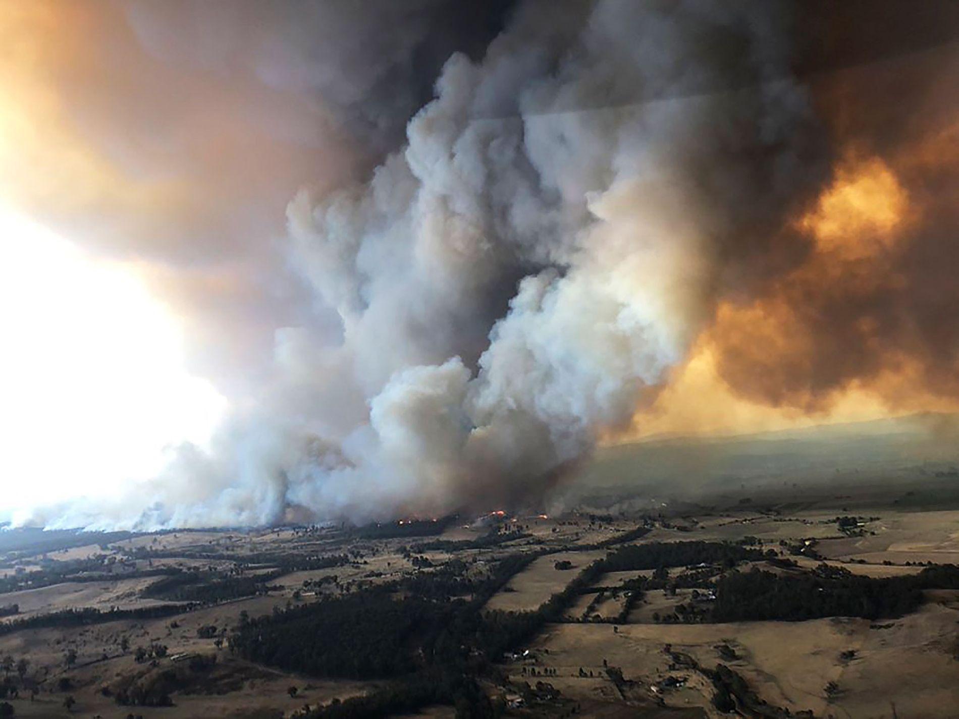 Rauchwolken in Bairnsdale