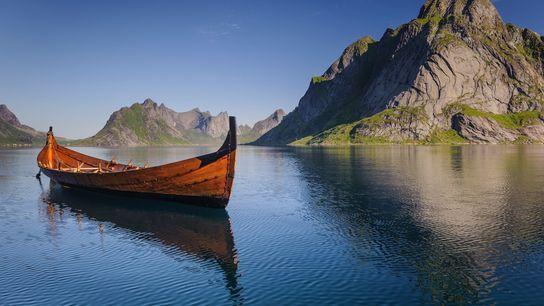 Nachbildung eines Wikingerbootes