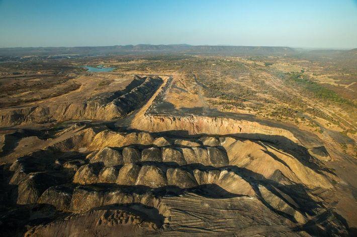Kohlemine in Simbabwe