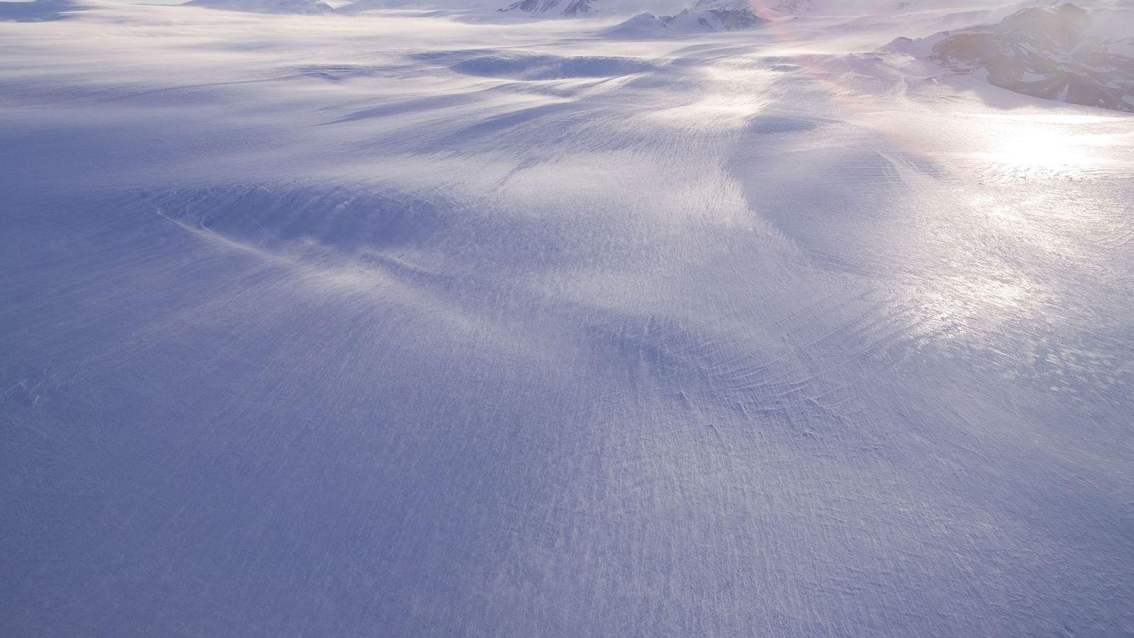 Der Antarktische Eisschild ist die größte eigenständige Eismasse der Welt.
