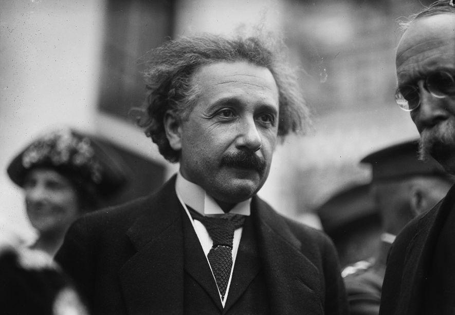 Albert Einstein während eines Besuchs in Washington, D.C. in den 1920ern.