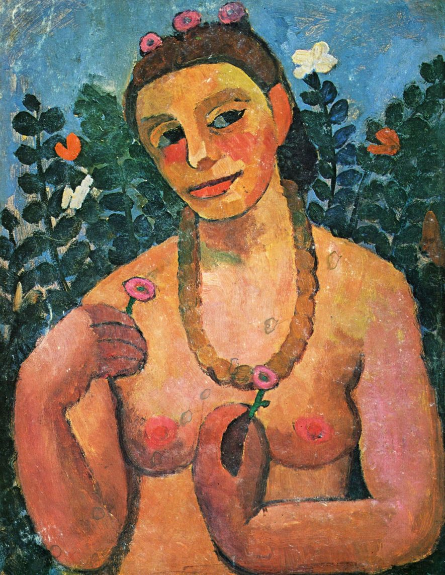 Die deutsche Künstlerin Paula Modersohn-Becker war die erste Frau, die sich selbst nackt malte.