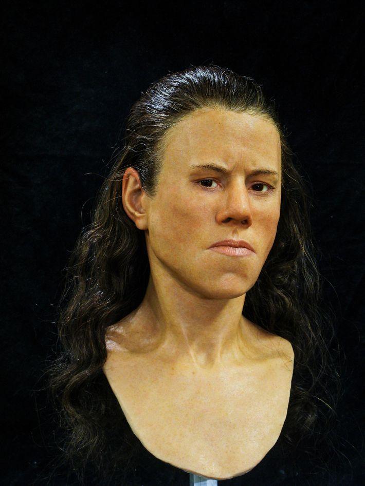 """Die Gesichtszüge des Menschen haben sich im Laufe der Jahrtausende """"geglättet"""", sodass sie heutzutage nicht mehr ..."""
