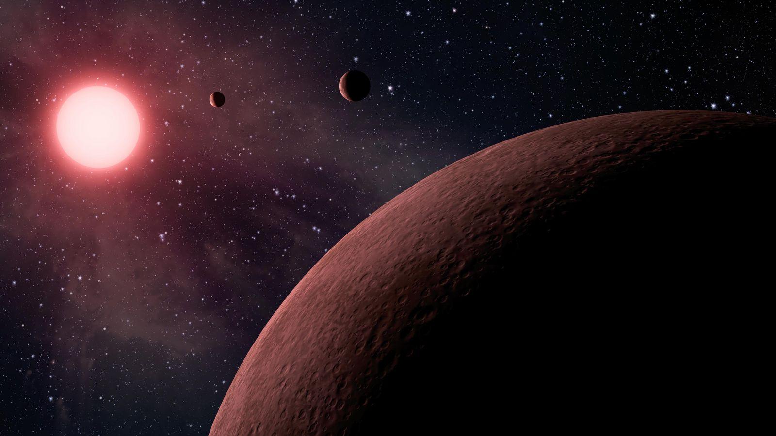 Planeten-Darstellung der NASA