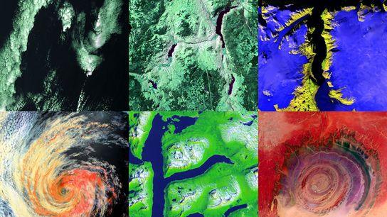 """Satellitenbilder buchstabieren """"NAT GEO"""""""