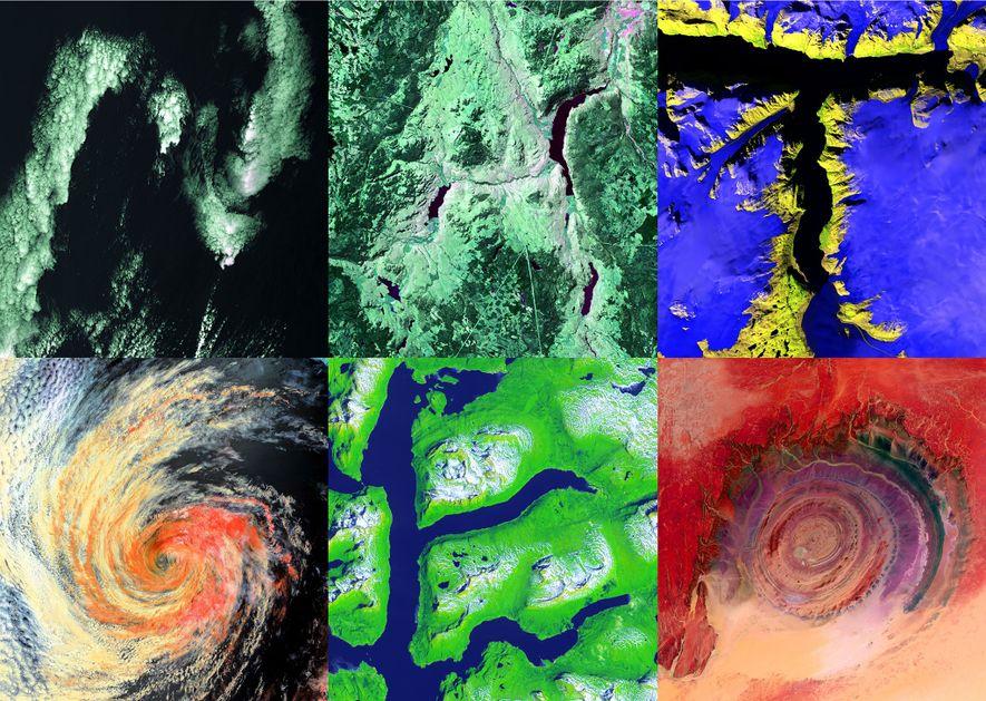 Satellitenbilder zeigen verstecktes Alphabet auf der Erdoberfläche