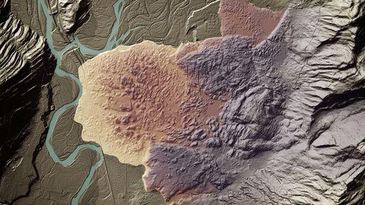 Laserscans offenbaren bizarr schöne Landschaften unter der Vegetation