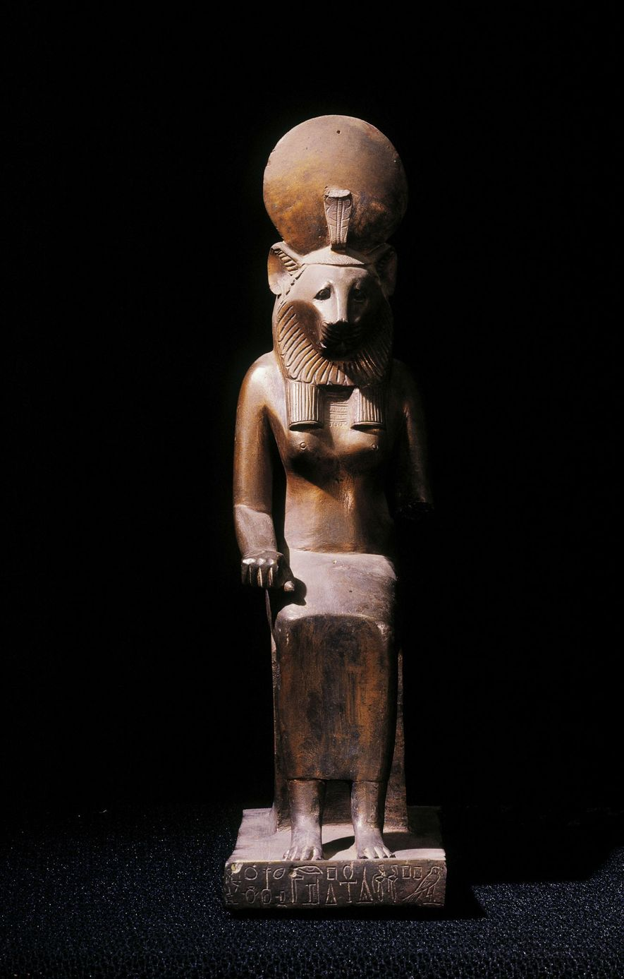 The lion mummies may be associated with the worship of Sekhmet, the Egyptian warrior goddess with ...