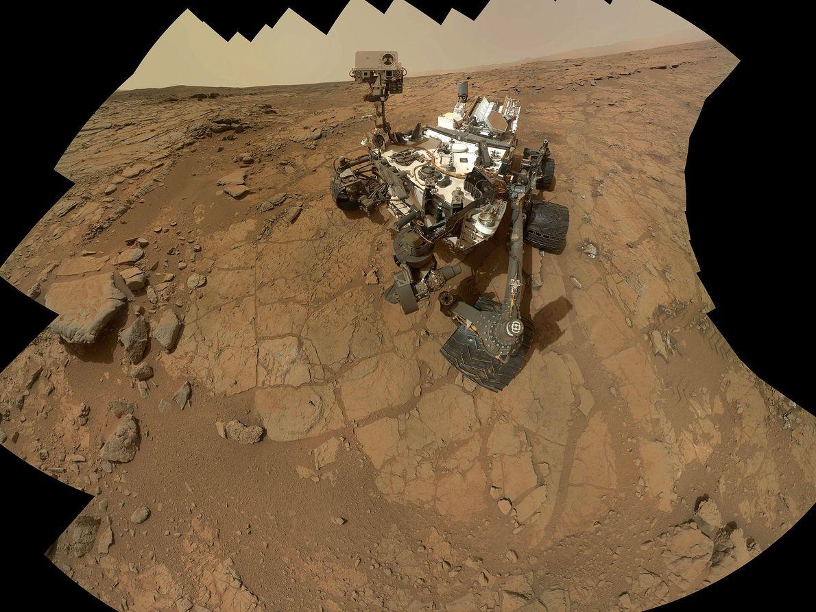 Ein Selbstporträt des Mars-Rovers Curiosity.