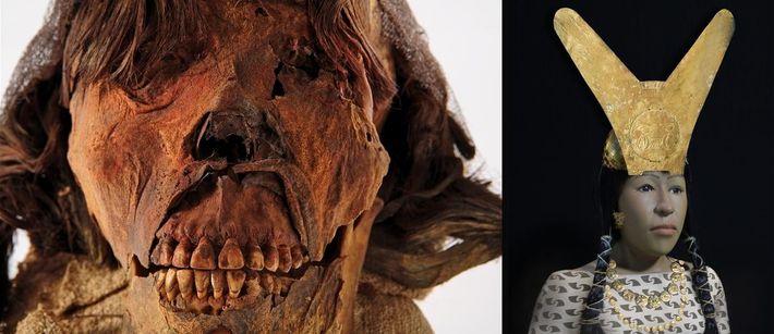 Mumie und Rekonstruktion