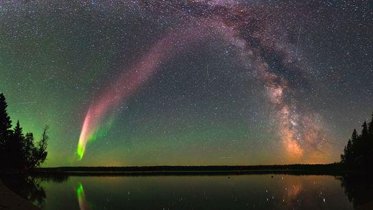 STEVE und die Milchstraße