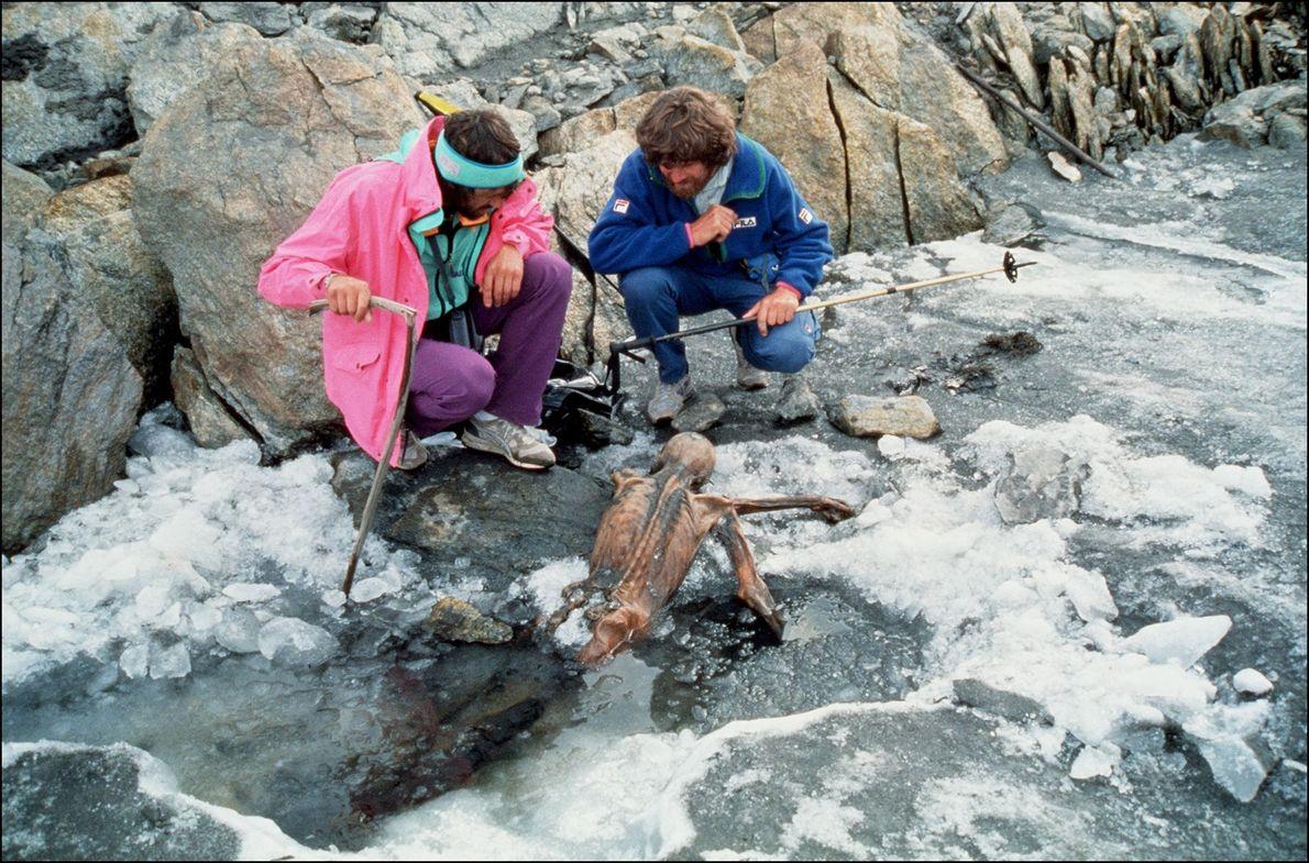 Reinhold Messner mit Ötzi