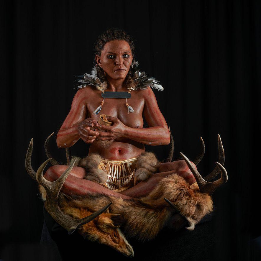 Forscher nutzten skelettierte Überreste und alte DNA, um die Grabstätte einer Frau zu rekonstruieren, die vor ...