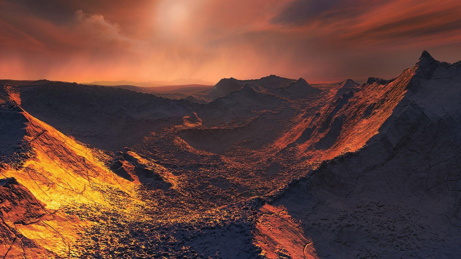Illustration eines neu entdeckten Exoplaneten