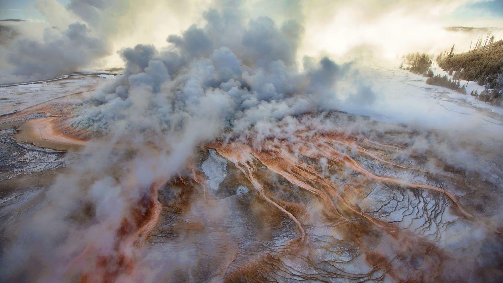 Mehr als ein Drittel des Yellowstone-Nationalparks befindet sich in der Caldera eines Supervulkans.