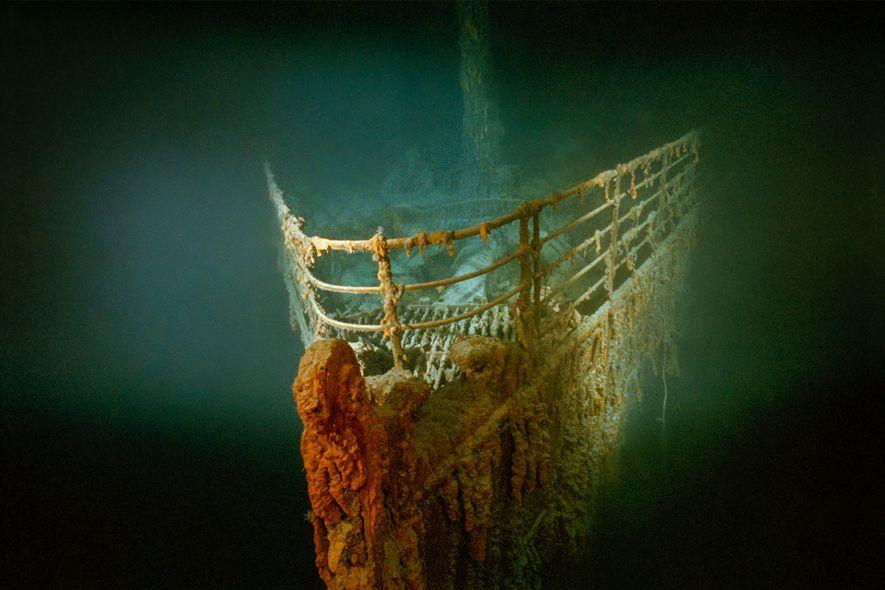 Der verrostete Bug der Titanic liegt auf dem Grund des Nordatlantiks.