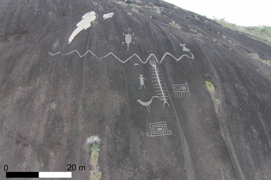 Riesige Felsbildkunst in Südamerika zum ersten Mal gescannt