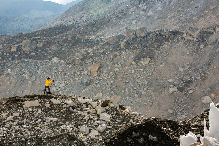 Das Basislager des Mount Everest wird in extrem hoher Auflösung erfasst.