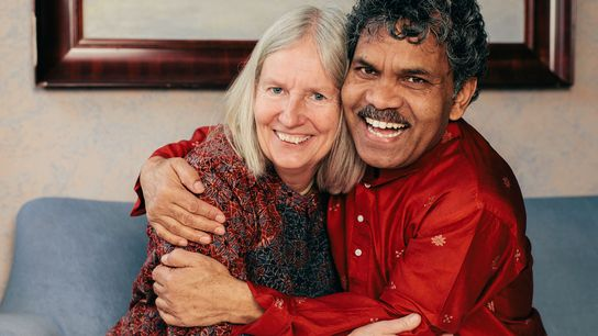Kumar Mahanandia mit seiner Frau
