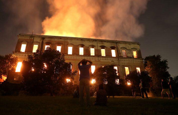 Am 2. September 2018 wütete ein Feuer im Nationalmuseum der Bundesuniversität von Rio de Janeiro.