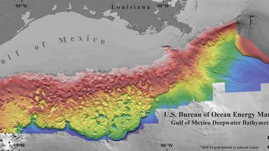 Neue Unterwasserlandkarte zeigt die bizarre Landschaft des Golfs von Mexiko