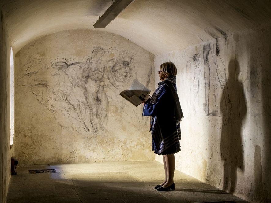 """Die """"verlorenen"""" Kunstwerke des Michelangelo im versteckten Raum der Medici-Kapellen"""