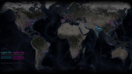 Neue Karte zeigt Veränderungen in den nächtlichen Lichtern der Erde