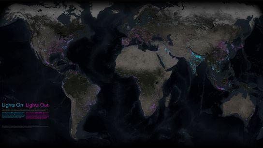 Nachtkarte der Welt