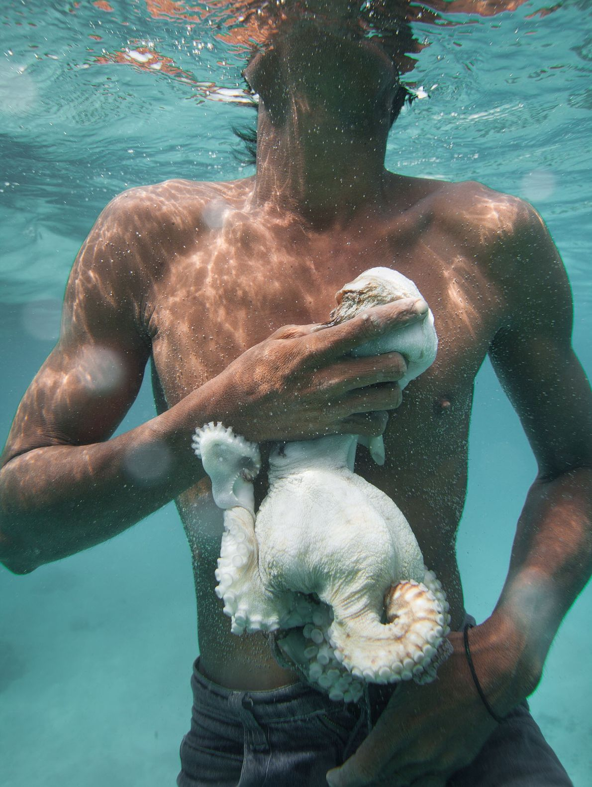 Ein Bajau-Fischer