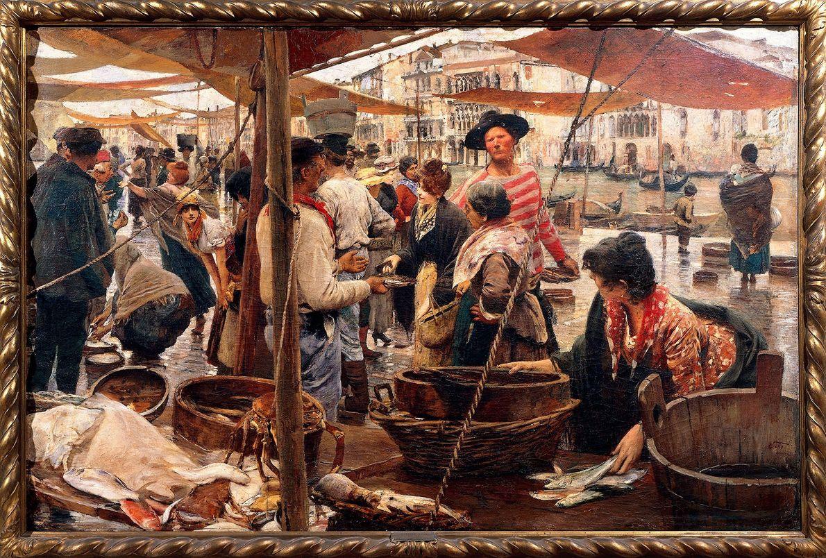 Der Fischmarkt im italienischen Venedig war für Willughby eine regelrechte Schatzkammer an verschiedenen Fischarten. Hier ist ...