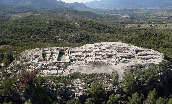 Das große bronzezeitliche Gebäude an der Stätte von La Almoloya soll ein Zentrum der politischen und ...
