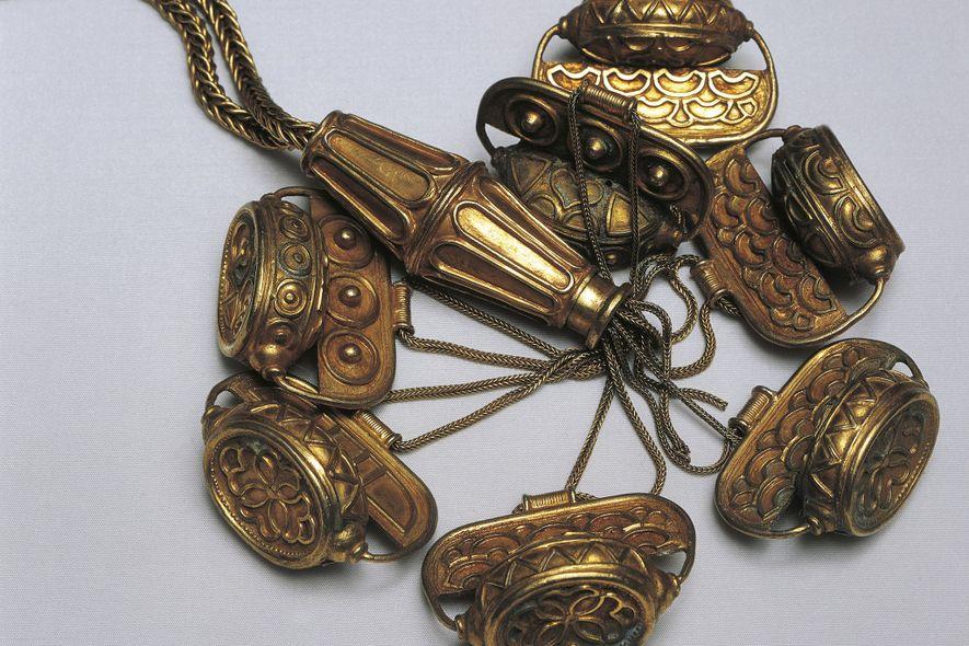 Manche Forscher glauben aufgrund des Designs, dass diese Halskette aus dem Schatz womöglich von Zypern stammt.