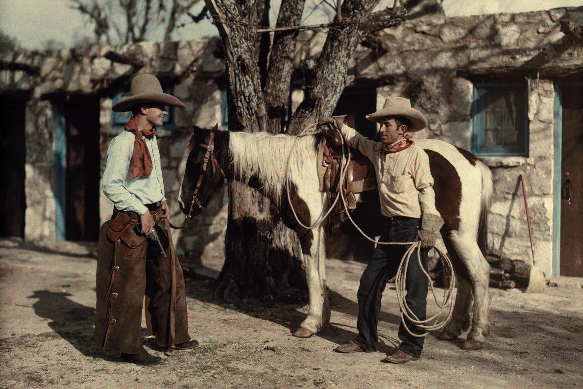 Zwei Rancharbeiter