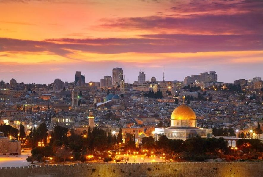 Tempelberg und der Felsendom in Jerusalem