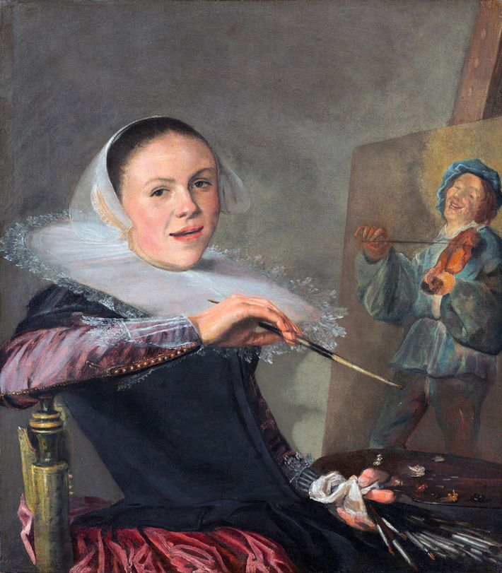 Judith Leyster gehört zu den ersten Künstlerinnen, deren Selbstporträts den Arbeitsprozess zeigen.