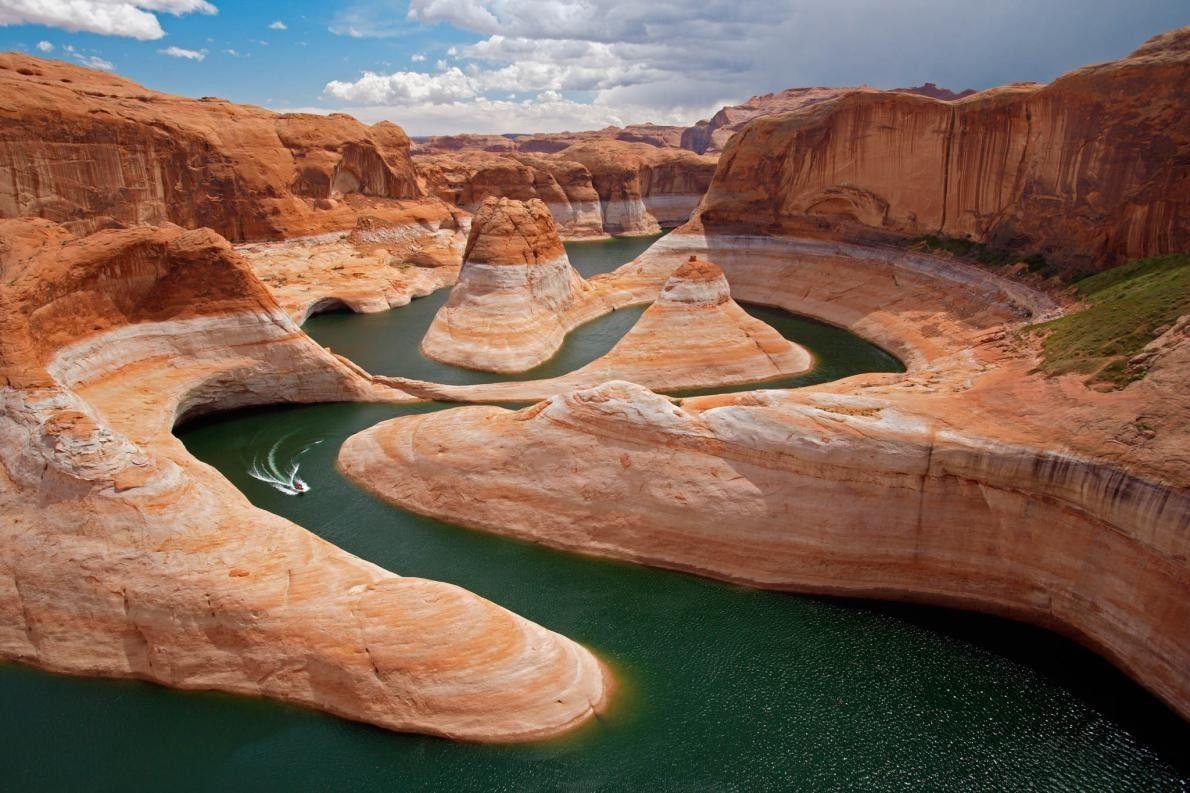 Boot zwischen Reflection Canyon in Utah