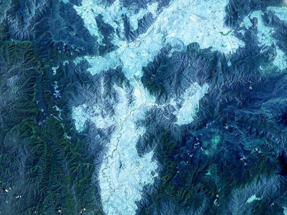 Galerie: Satellitenbilder zeigen verstecktes Alphabet auf der Erdoberfläche