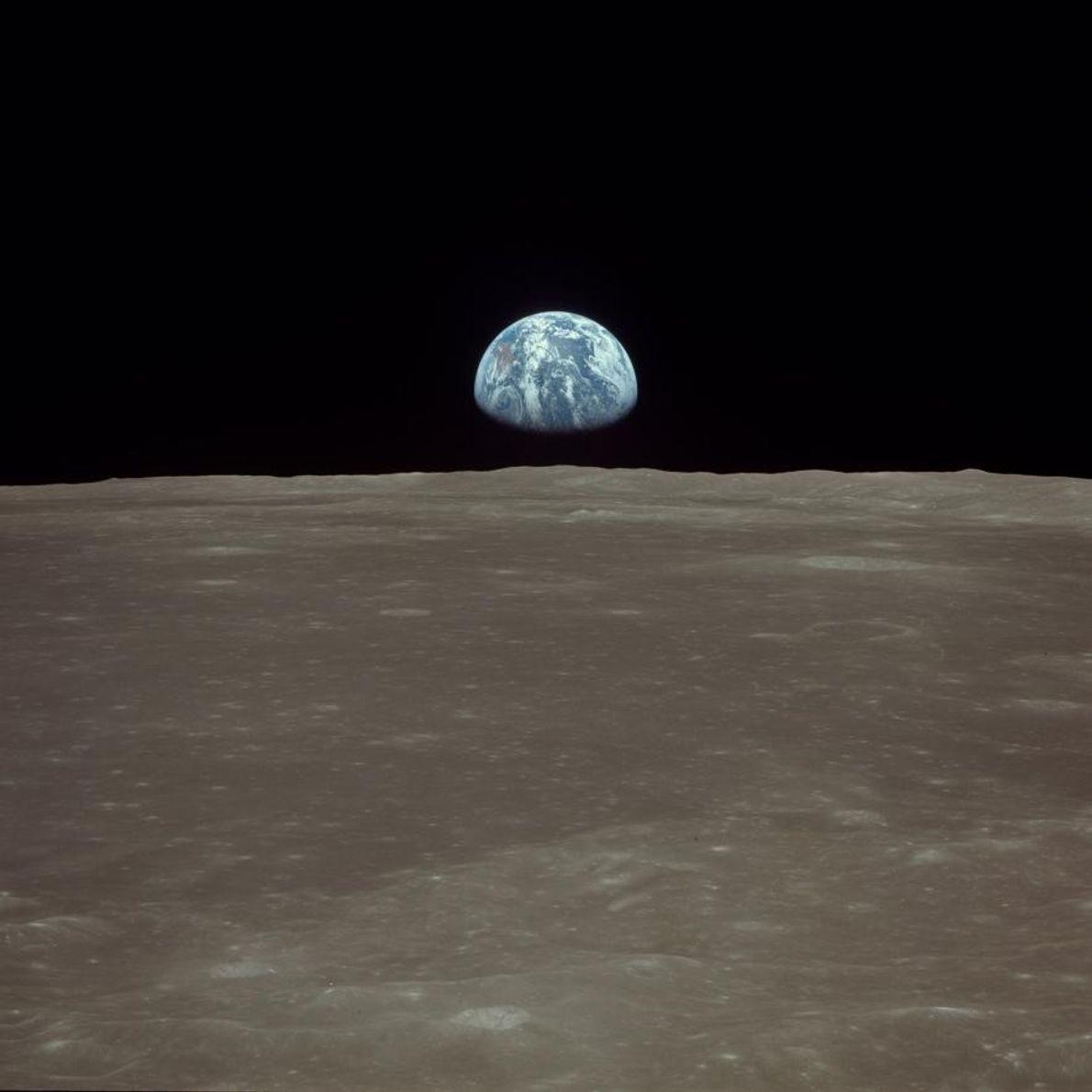 Blick vom Mond auf die Erde