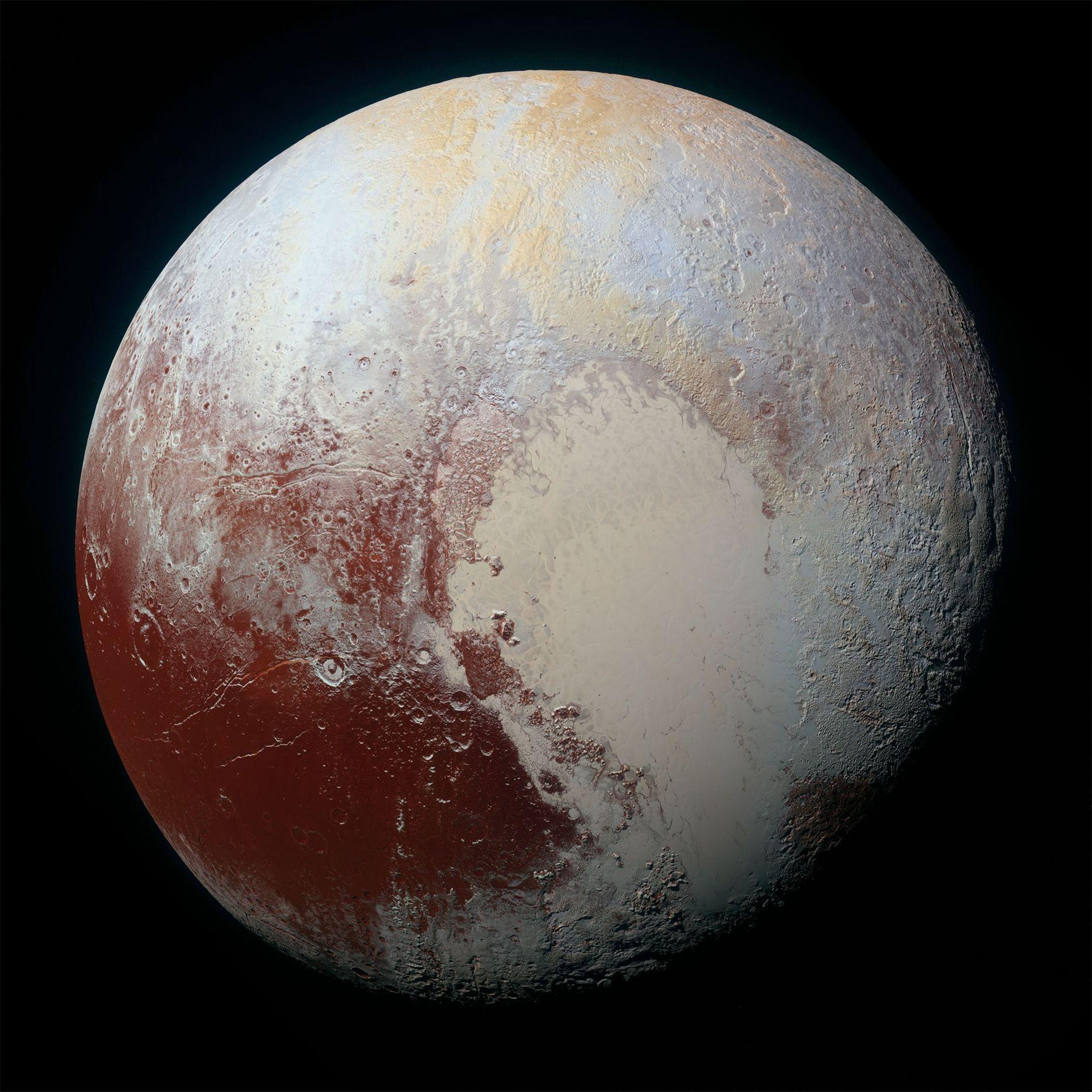 Die NASA-Raumsonde New Horizons machte am 14. Juli 2015 diese hochauflösende Aufnahme von Pluto.